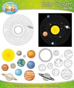 Planets clipart individual