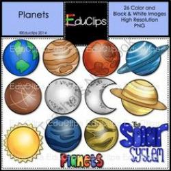 Planets clipart social science