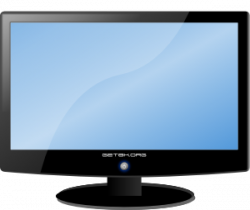 Tv clipart tv monitor