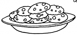 Biscuit clipart black and white