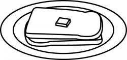 Plate clipart bread and butter
