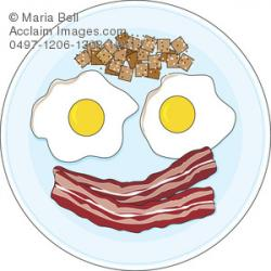 Bacon clipart breakfast egg