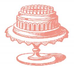 Victorian clipart cake