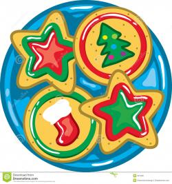 Plate clipart christmas cookie