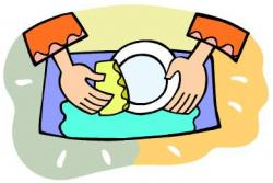Women clipart washing dish