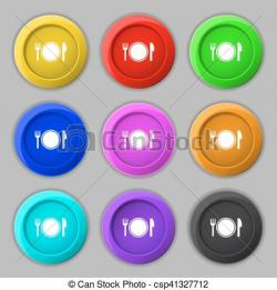 Plate clipart colourful