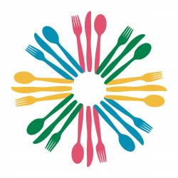 Cutlery clipart colorful