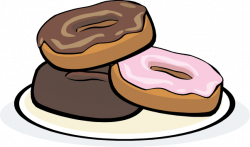 Plate clipart doughnut