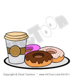 Doughnut clipart donut coffee