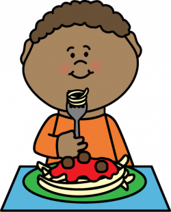 Noodle clipart boy eating