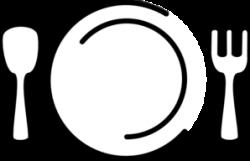 Plate clipart fork logo