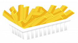 Plate clipart french fry