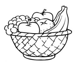 Plate clipart fruit basket