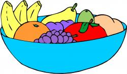 Plate clipart fruit bowl