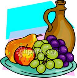 Plate clipart fruit plate
