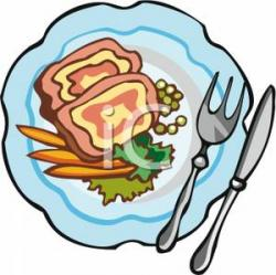 Plate clipart plate food