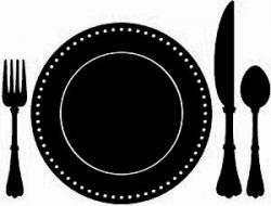 Plate clipart silhouette