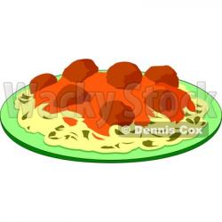 Meatball clipart cartoon