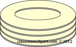 Plate clipart stacked