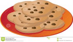 Biscuit clipart plate cookie