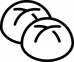 Bread Roll clipart black and white