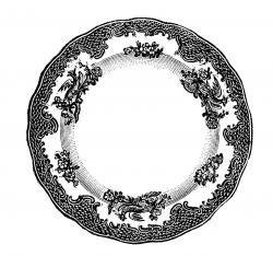 Plate clipart vintage