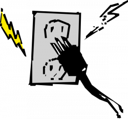 Plugged clipart electric wire