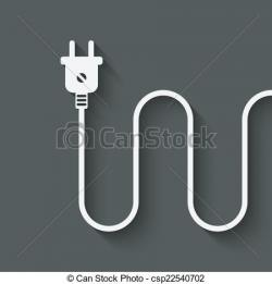 Plug clipart electric wire