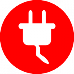 Plugged clipart electrical installation