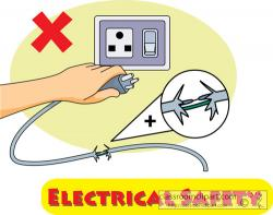 Plugged clipart electrical safety