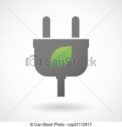 Plugged clipart leaf