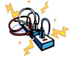 Plugged clipart overloaded