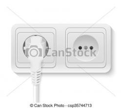 Plugged clipart plug socket