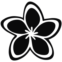 Frangipani clipart black and white