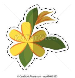 Plumeria clipart decoration