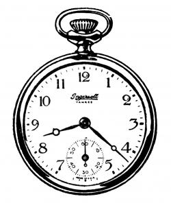 Drawn pocket watch animated