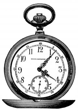 Victorian clipart vintage pocket watch