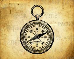 Compass clipart antique compass