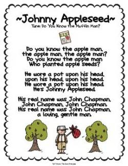 Poem clipart johnny appleseed
