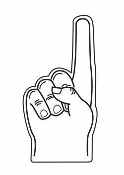 Finger clipart foam