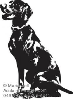 German Shorthaired Pointer clipart hunting dog