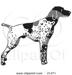 German Shorthaired Pointer clipart cartoon