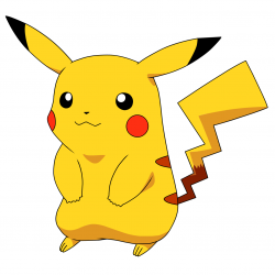 Pikachu clipart excited