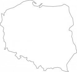 Poland clipart black and white