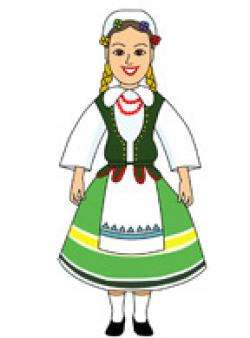 Traditional Costume clipart poland