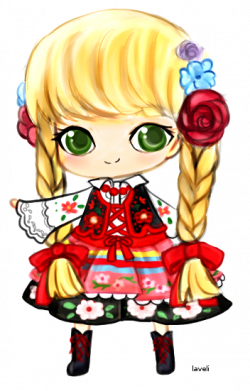 Poland clipart dress