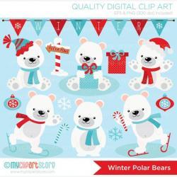 Polar  Bear clipart diva