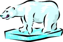 Iceberg clipart polar bear