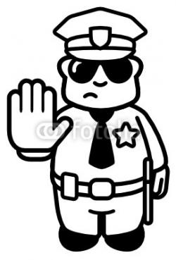 Police clipart black and white