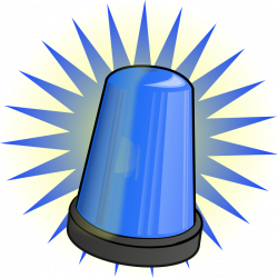 Light Blue clipart cop light